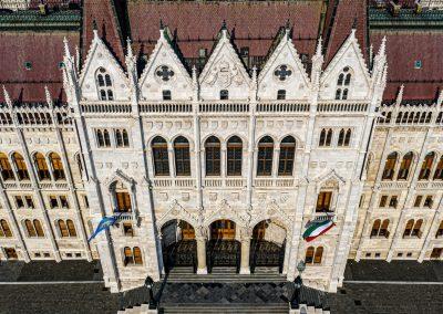 Légifotó - Parlament homlokzat