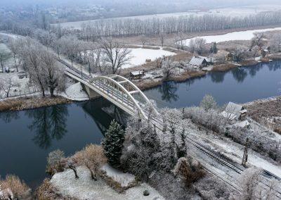 Légifotó - Haraszti vasúti híd